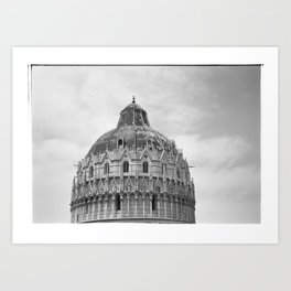 Scanned negative of San Giovanni Baptistery Art Print