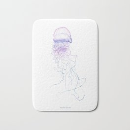 Physalia physalis (color) Bath Mat