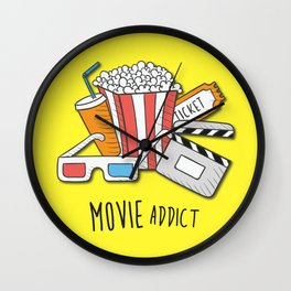 Movie Addict Wall Clock