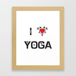 I heart Yoga Framed Art Print