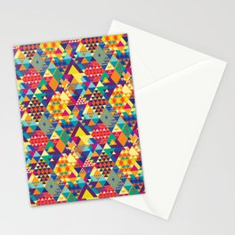 Triangles N Colors Stationery Cards