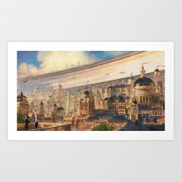 Racing Season in Empire City Art Print