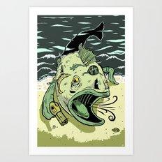 Something Fishy this way Comes Art Print