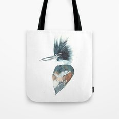 Kingfisher Watercolour Portrait Tote Bag