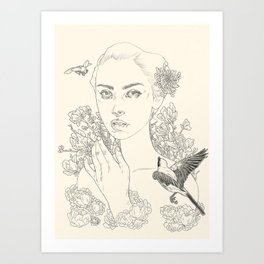 Chrysanthemum (The Duel) Art Print