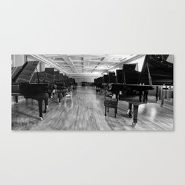 A Long Row of Pianos Canvas Print