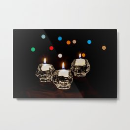 Holiday Candles Metal Print