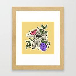 Flowery Vertebrae Framed Art Print