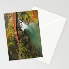 Shinkyo Bridge in Nikko, Japan in autumn Stationery Cards