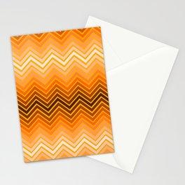 Orange chevron Stationery Cards