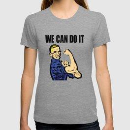 Notorious RBG Ruth Bader Ginsburg We Can Do It Pop Art T-shirt