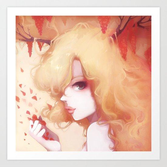 Automne rouge Art Print