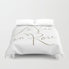 la vie en rose Duvet Cover