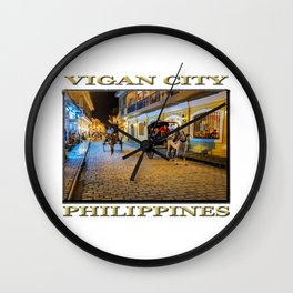 Vigan City, Philippines (poster edition) Wall Clock