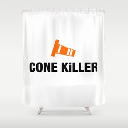 Cone Killer v4 HQvector Shower Curtain