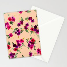 Ava Floral Peach Stationery Cards