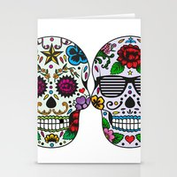 sugar skulls Stationery Cards featuring Sugar skulls by very giorgious