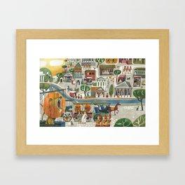 lions in rome Framed Art Print