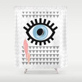 Eye Minimalist Shower Curtain