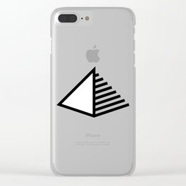 Pyramid Icon Logo Clear iPhone Case