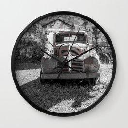 Abandoned Truck Phillipsburg Missouri Gutted Gymnasium Route 66 Wall Clock