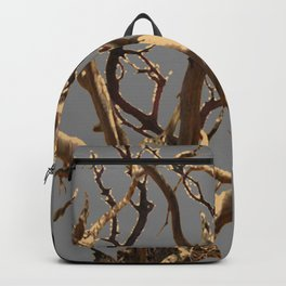 RAVEN ON DEAD TREE GREY ART Backpack