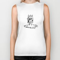 cartoon Biker Tanks featuring Cartoon Meltdown by yahtz designs