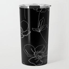 Botanical illustration drawing - Botanicals Black Travel Mug