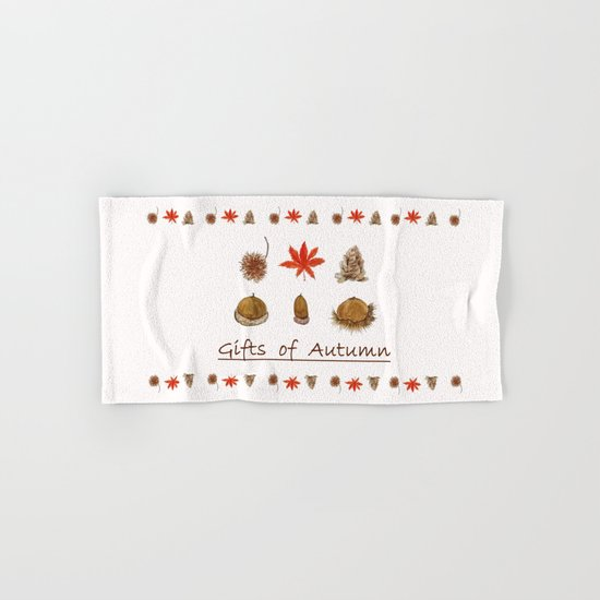 Gift of autumn watercolor painting Hand & Bath Towel