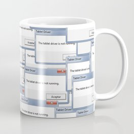 The tablet driver is not running Coffee Mug