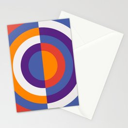 Circles Number Two - Red And Blue Stationery Cards