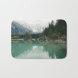 Turquoise lake - Landscape and Nature Photography Bath Mat