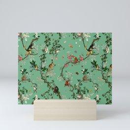 Monkey World Green Mini Art Print