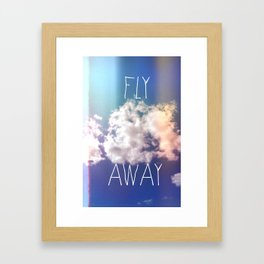fly away in the sky Framed Art Print