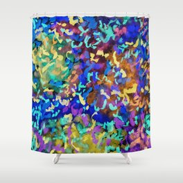 Neon Botanical Shower Curtain