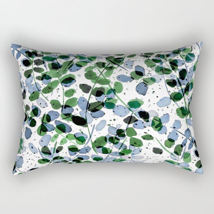 Synergy Blue and Green Rectangular Pillow