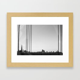 Silhouette of a Utopia Framed Art Print