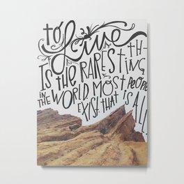 oscar wilde said that. Metal Print