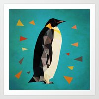 penguin Art Prints featuring penguin by gazonula