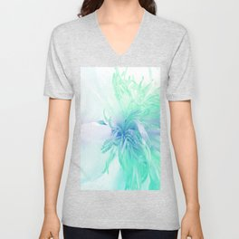 White Peony In A Different Light Unisex V-Neck