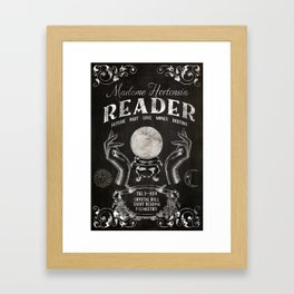 Gypsy Crystal Ball Reader Sign Framed Art Print