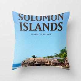Visit Solomon Islands Throw Pillow