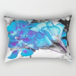 Turquoise Flowers Rectangular Pillow
