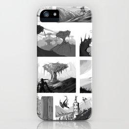 Matte painting thumbnails iPhone Case