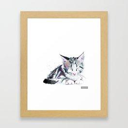 Ink Kitten Framed Art Print