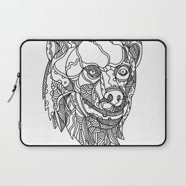 Brown Bear Head Doodle Laptop Sleeve