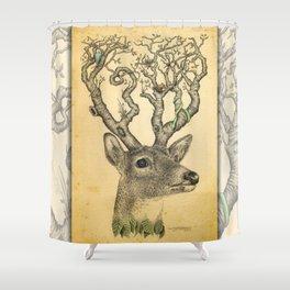 Deer Drawing Shower Curtain