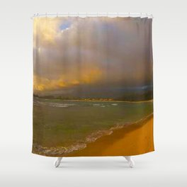 Playing Tag With the Hawaii Tide Shower Curtain