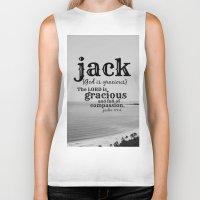 jack white Biker Tanks featuring Jack by KimberosePhotography