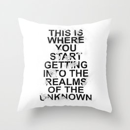 the realms of the unknown #2 Throw Pillow